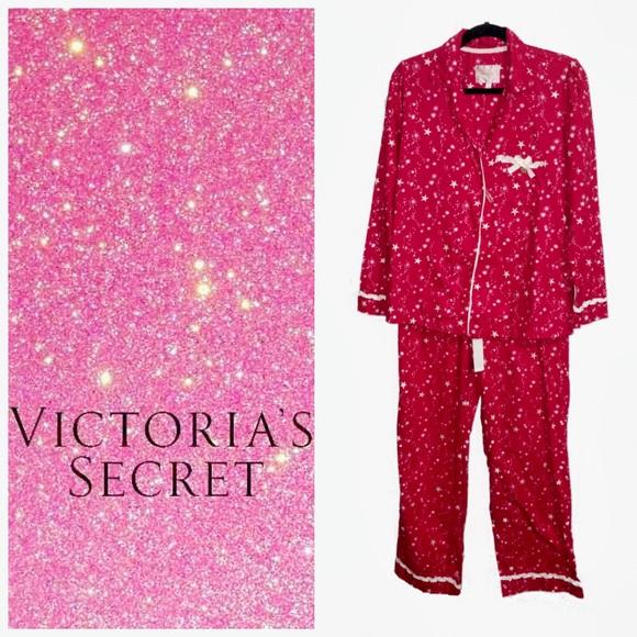 15dd1b35edfb1 Victoria Secret Red Star Cotton Pajamas Small